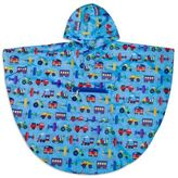 Olive Kids Size 4-7 Trains, Planes & Trucks Poncho in Blue
