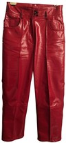 Petar Petrov Red Leather Trousers for Women