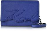 Karl Lagerfeld K/Signature Saffiano Leather Shoulder Bag