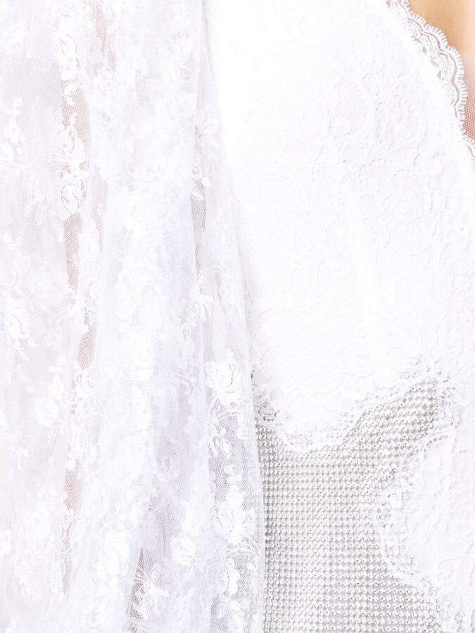 Thumbnail for your product : Christopher Kane Lace Bodice Bridal Dress
