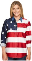 Roper L/S Stars and Stripes Pieced Flag Women's Long Sleeve Button Up