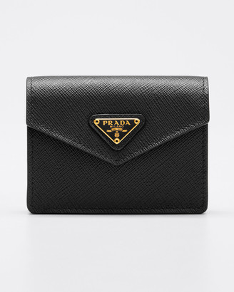 Prada Saffiano Triangolo Card Case