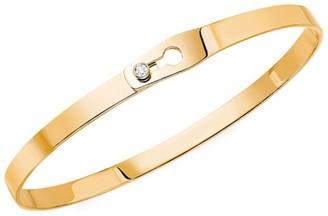 Dinh Van Serrure Ruban 18K Yellow Gold & Diamond Bangle Bracelet