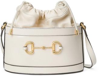Gucci 1955 Horsebit Bucket Bag in Mystic White | FWRD