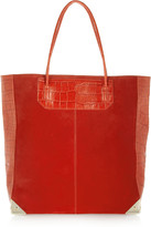 Alexander Wang Prisma croc-effect leather and suede tote