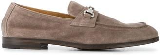 Doucal's Suede Horsebit Almond Toe Loafers