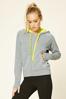 Forever 21 FOREVER 21+ Active Heathered Fleece Hoodie