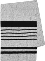 Topman White And Black Fleck Knitted Thick Scarf