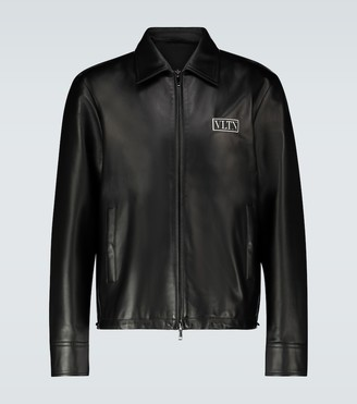 Valentino VLTN logo leather jacket