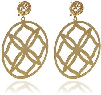 Georgina Jewelry Gold Runway Flower Earrings