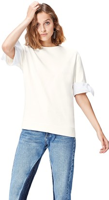 Find. Amazon Brand Women's Sweatshirt with Short Sleeves and Crew Neck