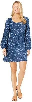 Roper 9891 Feather Print Dress