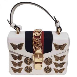 Gucci Sylvie White Leather Handbags