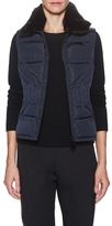 Magaschoni Puffer Vest with Fur Collar