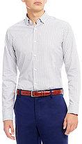 Hart Schaffner Marx Dobby Stripe Long-Sleeve Sportshirt