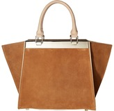 Alice + Olivia Suede Athena Satchel Satchel Handbags