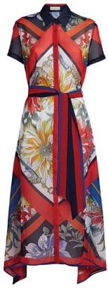 Gottex Floral Print Shirt Dress