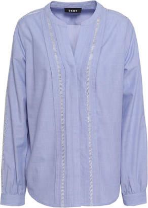 DKNY Cotton-blend Chambray Blouse