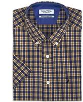 Nautica Classic Fit Wrinkle Resistant Majestic Plaid Short Sleeve Shirt