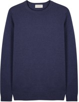 John Smedley Crowford Blue Wool Blend Jumper