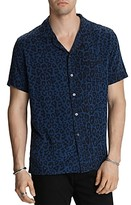 John Varvatos Star Usa Cameron Short-Sleeve Leopard-Print Slim Fit Shirt