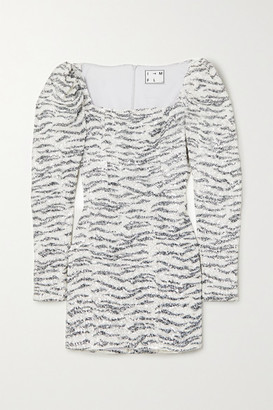 Leonardo In The Mood For Love Zebra-print Sequined Tulle Mini Dress - Zebra print
