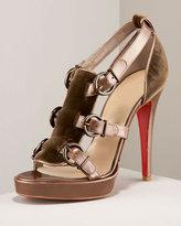 Lima Buckled Velvet Sandal