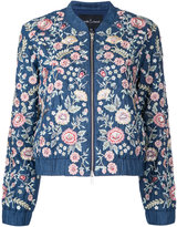 Needle & Thread floral bomber jacket - women - Cotton/Polyester - 14