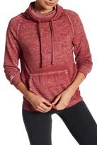 Planet Gold Danielle Long Sleeve Burnout Sweatshirt
