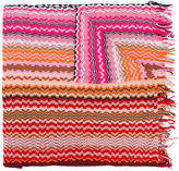 Missoni zig zag crochet knit scarf - women - Cotton - One Size