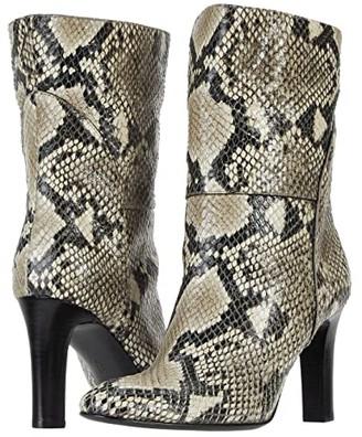 Giuseppe Zanotti Kubrick 90 Printed Snake Boot (Roccia) Women's Shoes