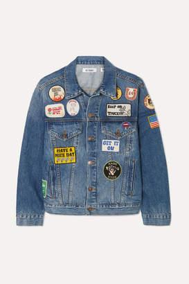 Solid & Striped Re/done The Patch Embellished Denim Jacket - Light denim