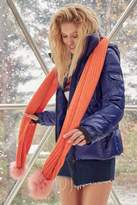 Urban Outfitters Colorblocked Pompom Scarf