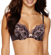 Maidenform Shape Love the Lift Satin and Lace Plunge Push-Up Bra - DM9900