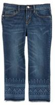 Jessica Simpson Girl's Cherish Cropped Flare Jeans