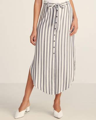 BB Dakota Striped Midi Length Skirt
