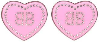 Balenciaga Crush crystal-embellished earrings