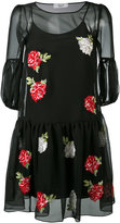 Blugirl embroidered flower dress - women - Polyester/Viscose - 40