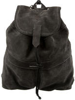 CNC Costume National Suede Drawstring Backpack