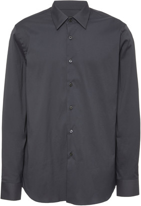 Prada Cotton-Blend Poplin Button-Up Shirt