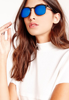 Missguided Half Frame Sunglasses Blue