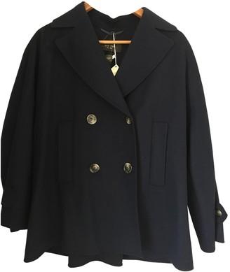 Max Mara Navy Cashmere Coat for Women