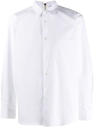 Comme des Garcons zip-back collared shirt