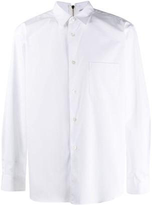 Comme des Garçons Shirt Zip-Back Collared Shirt
