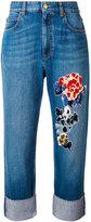 Sonia Rykiel sequin embellished jeans - women - Cotton/Polyamide/Lyocell/PVC - 34