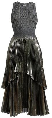 Altuzarra Mishka Pleated Knit Midi Dress