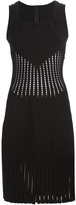 Alaia perforated fitted dress