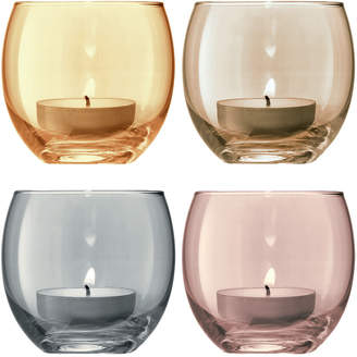 LSA International Polka Assorted Tealight Holders - Set of 4 - Metallic