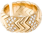 Bvlgari 18K Chevron Diamond Band