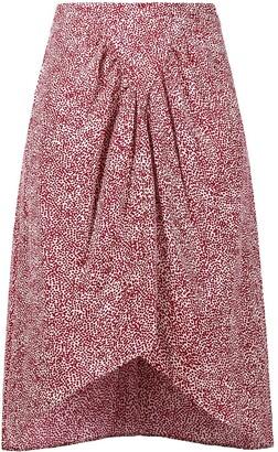 Etoile Isabel Marant Animal-Print Gathered Skirt